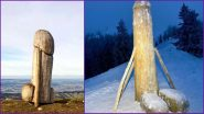 Penis-Shaped Wooden Structure That Disappeared From German Mountain is Replaced by Another Bigger Phallus But No One Knows How! (See Pics and Video)
