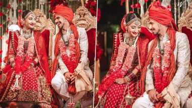 Yuzvendra Chahal-Dhanashree Verma Wedding Pics OUT: Indian Cricketer Shares Beautiful Photos From Marriage Ceremony on Social Media