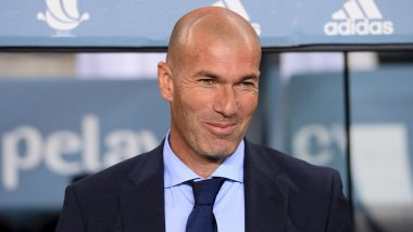 Zinedine Zidane Tests Positive for COVID-19, Real Madrid Manager To Be Out for at Least Next Four Matches