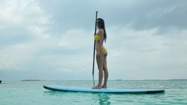 Disha Patani Would Make For a Sizzling Superhero As She Dons a Yellow Bikini and Poses 'Aquaman' Style in This Beach Click (View Post)