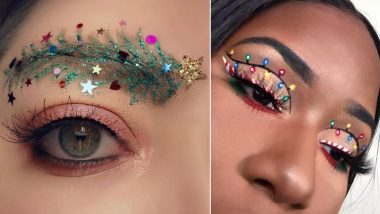 Christmas 2020 Makeup Ideas: From Xmas Tree Eyebrows to Candy Cane Eyeliner, Beauty Trends to Try This Holiday Season