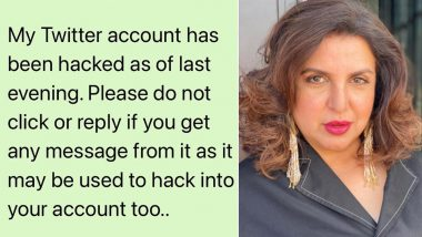 Farah Khan's Twitter Account Hacked, Filmmaker Warns Followers To Be Vigilant (View Post)