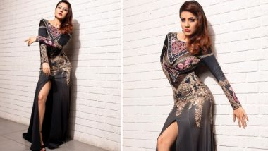 Shehnaaz Gill Slays It Like a Queen in an Embellished Black Gown Worth Rs 66K (View Pics)