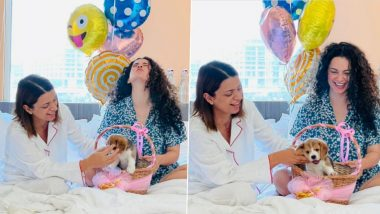 Kangana Ranaut Marks Sister Rangoli Chandel's Birthday by Introducing Her New Pup (See Pics)