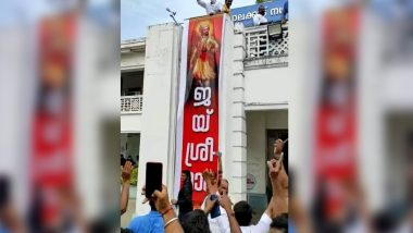 BJP Workers Put Huge Banner With 'Jai Shri Ram' Slogan on Palakkad Municipality, Booked For 'Provoking Riot'