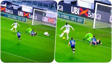 Alvaro Morata Misses an Open Goal Assisted By Cristiano Ronaldo During Juventus vs Atalanta, Serie A 2020-21, Andrea Pirlo Fumes Over the Miss (Watch Video)