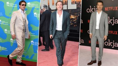 Brad Pitt Birthday: From a Charcoal Coloured Suit to a Black Tuxedo – 5 of the Hottest Red Carpet Appearance Made by the Star