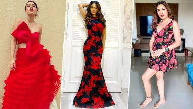 Christmas 2020: Let Hina Khan, Nia Sharma and Surbhi Chandna Spice Up Your Party Wardrobe (View Pics)