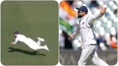 Virat Kohli Grabs a Flying Catch to Dismiss Cameron Green During India vs Australia, 1st Test 2020-21 (Watch Video)