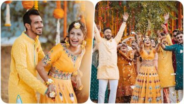 Yuzvendra Chahal & Dhanashree Verma's Haldi Pictures Will Leave You With a Big Smile, Check Out Happy Photos of the Newlywed Couple