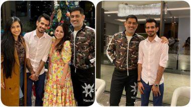 MS Dhoni, Sakshi Rawat Host Newlyweds Yuzvendra Chahal & Dhanashree Verma for Dinner, Pics Go Viral