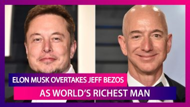 Elon Musk, Tesla CEO Overtakes Amazon's Jeff Bezos To Become The World's Richest Person