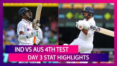 IND vs AUS 4th Test 2021 Day 3 Stat Highlights: Washington Sundar-Shardul Thakur Shine With Bat