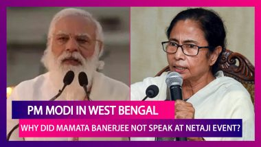 PM Narendra Modi In West Bengal: Why Did Chief Minister Mamata Banerjee Not Speak At Netaji Subhas Chandra Bose Event?