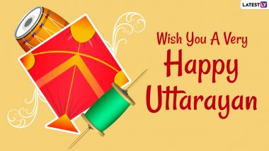 Uttarayan Images & Happy Makar Sankranti 2021 HD Wallpapers for Free Download Online: WhatsApp Messages, GIF Greetings, Quotes, SMS and Status To Celebrate Harvest Festival