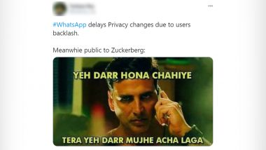 WhatsApp Funny Memes and Jokes Are Back! Messaging App Delays Privacy Update Amid Mass Concerns Over Facebook Data Sharing, LOL at These Hilarious Reactions