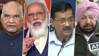 New Year 2021 Wishes: President Ram Nath Kovind, PM Narendra Modi, Arvind Kejriwal, Amarinder Singh and Other Leaders Extend Greetings to Citizens
