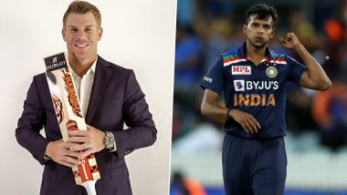 David Warner Praises Sunrisers Hyderabad Teammate T Natarajan, Says 'He Has Skills to Succeed but Not Sure Whether He Can Do It Regularly in Tests'