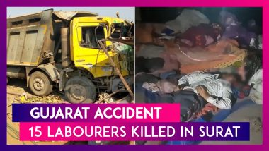 Gujarat Accident: 15 Labourers Killed By Speeding Truck In Surat, 4-Month-Old Girl Survives; PM Narendra Modi Expresses Grief