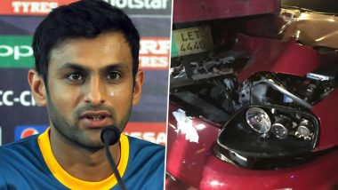 Shoaib Malik Safe! Pakistan Cricketer's Car Meets Accident, Crashes Into Truck After PSL 2021 Draft Event
