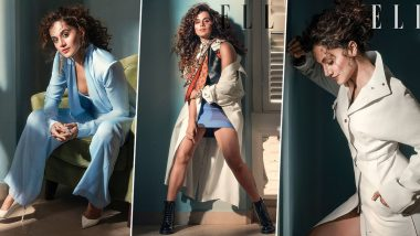 Taapsee Pannu Resembles a City Girl Living a Perfect, Glamorous Life in Her New Photoshoot for Elle India (View Pics)
