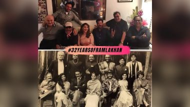#32YearsOfRamLakhan: Madhuri Dixit Nene Recalls 'Wonderful Memories' by Sharing an Adorable Picture With Anil Kapoor, Jackie Shroff and Others