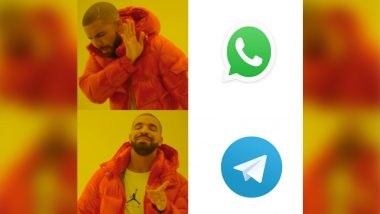 WhatsApp vs Telegram Funny Memes & Jokes Trend on Social Media Once Again After New Privacy Policy Set to Share Data with Facebook
