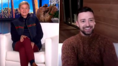 On The Ellen DeGeneres Show, Justin Timberlake Reveals Name of Second Baby with Jessica Biel (Watch Video)