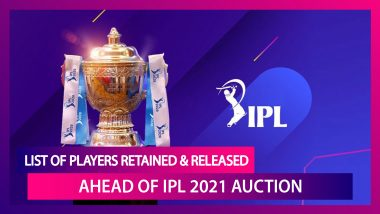 IPL 2021: List of Players Retained And Released Ahead of Auction