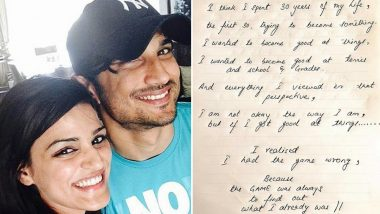 Shweta Singh Kirti Shares Sushant Singh Rajput's Handwritten Note That Says 'I Am Not Okay the Way I Am' (See Pic)