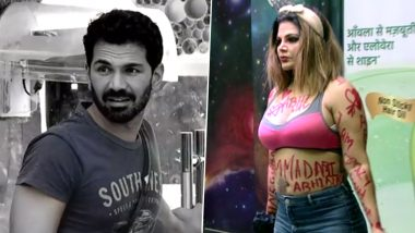 Bigg Boss 14: Rakhi Sawant Writes 'I Love You Abhinav' All Over Her Body; Refers to Herself As the Actor's Girlfriend