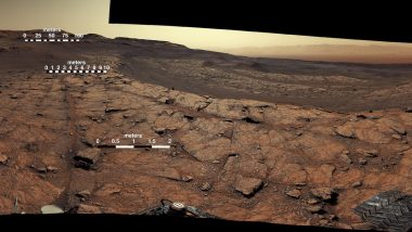 Martian View! NASA's Curiosity Rover Celebrates 3,000 Days on Mars, Releases Stunning Panorama of the Red Planet (See Pics)