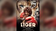 Liger: Vijay Deverakonda and Ananya Panday's Film Gets a Title! Arjun Reddy Actor Turns Boxer in First Poster of Karan Johar's South Foray (View Pic)