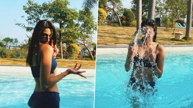 Erica Fernandes Flaunts Her Curves in a Blue Bikini As She Spends Some Time in the Waters (View Pics)