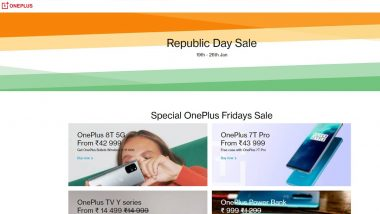 OnePlus Republic Day Sale 2021: Get Up to Rs 2,000 Off on OnePlus 8T, OnePlus 7T Pro; Rs 1000 off on OnePlus TV Y Series & More