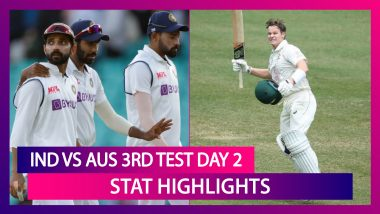 IND vs AUS 3rd Test 2021 Day 2 Stat Highlights: Steve Smith Scores Century