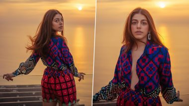 Alaya F's Vibrant Colourful Playsuit Gets a Big Thumbs Up From Us (View Pics)