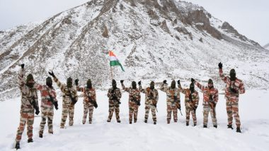 Republic Day 2021 Celebrations in Ladakh: ITBP's R-Day March with Tricolour at 17,000 Feet (Watch Video)