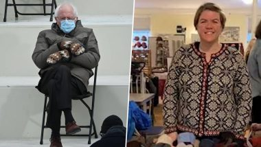 Bernie Sanders' Mittens in the Viral US Inauguration Day Pic Are ACTUALLY Made by a Humble Vermont School Teacher, Jen Ellis Who Now Has All Her Creations Sold Out!