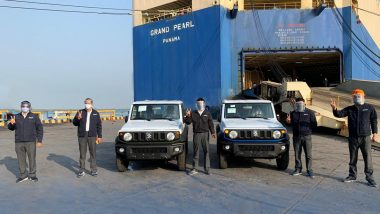 India-Made Suzuki Jimny Off-Roader SUV's Export Begins; 184 Units Shipped By Maruti Suzuki From Mundra Port.