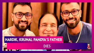 Hardik & Krunal Pandya's Father Dies; Virat Kohli, Sachin Tendulkar & Others Express Grief; Hardik Pens An Emotional Note