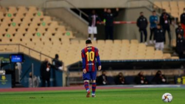 Lionel Messi Shown First Red Card of Barcelona Career