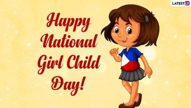 National Girl Child Day 2021 Wishes and HD Images: WhatsApp Stickers, Signal Messages, Girl Power Quotes, Telegram Photos and Facebook Greetings to Celebrate the Day