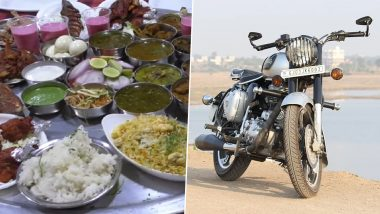 Shivraj Hotel Offers Royal Enfield Bike to the One Who Gobbles Up Bullet Thali in 60 Minutes