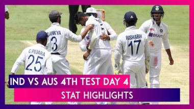 IND vs AUS 4th Test 2021 Day 4 Stat Highlights: Mohammed Siraj Shines On Rain-Hit Day