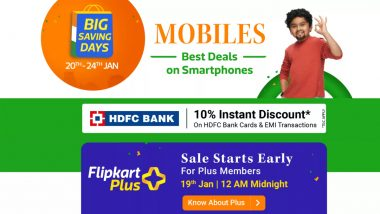 Flipkart Big Saving Days Sale 2021 Now Live for Plus Members, Check Here for Best Deals & Offers on Smartphones & Electronics