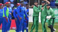 How To Watch Afghanistan vs Ireland 1st ODI 2021 Live Streaming Online in India? Get Live Telecast of AFG vs IRE Match & Cricket Score Updates on TV