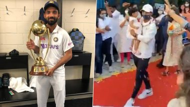 Ajinkya Rahane Gets Hero's Welcome As He Returns Home After Test Series Win in Australia (Watch Video)