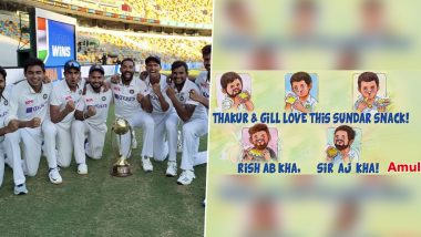 From Rishabh Pant, Shubman Gill to Mohammed Siraj, Amul Releases New Topical To Celebrate Emergence of India's Next Generation of Cricketers in Australia