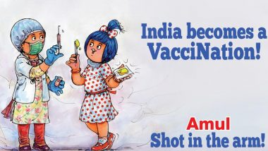 Amul Releases Topical Ad on COVID-19 Vaccine Roll Out in Country, Says 'India Becomes a VacciNation!'